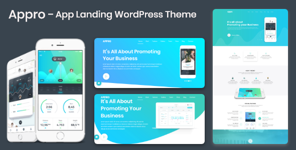 Appro – App Landing WordPress Theme - Software Technology