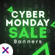 Free Download Cyber Monday Sale Web Banner Set Nulled