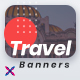 Free Download Travel Web Banner Set Nulled
