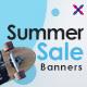 Free Download Seasonal Sale Web Banner Set Nulled