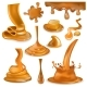 Caramel Splash Vector Sweet Flowing Liquid Sauce - GraphicRiver Item for Sale