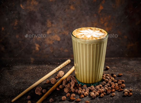 Spice chai latte - Stock Photo - Images