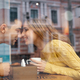 Young attractive couple on date in coffee shop, first kiss - PhotoDune Item for Sale