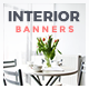 Interior Design Web Banner Set - GraphicRiver Item for Sale