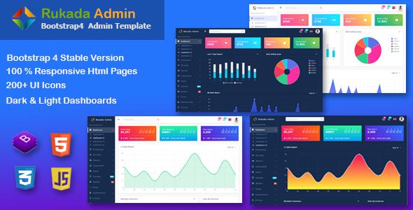 Rukada -  Responsive Bootstrap 4 Admin Template