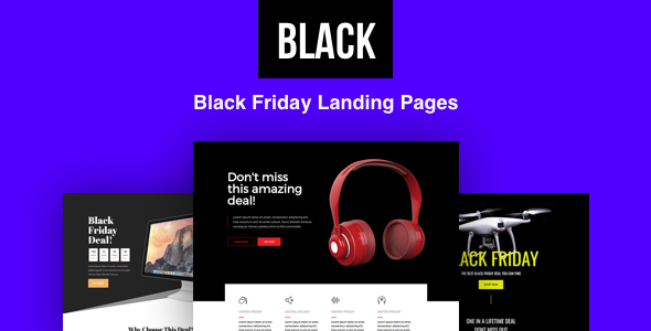 Black - Black Friday Landing Pages with Page Builder - Marketing Corporate