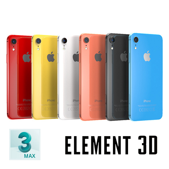 iPhone XS, XS Max and XR - Element 3D, MAX, OBJ - 3DOcean Item for Sale