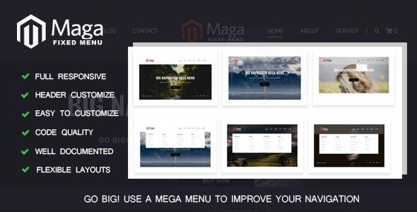 B-MAGAMENUN - Responsive Header Navigation Menu - CodeCanyon Item for Sale