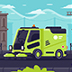 Street Cleaning Machine at Work in City - GraphicRiver Item for Sale