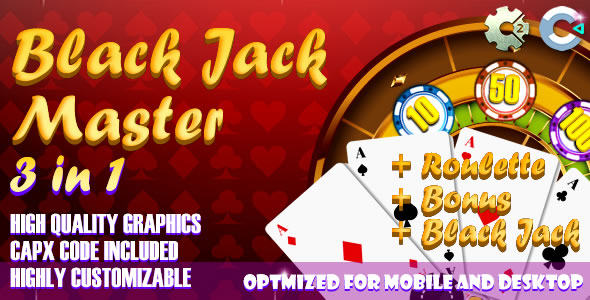 Black Jack - Master 3 in 1 (C2, C3, HTML5) Game.            Nulled
