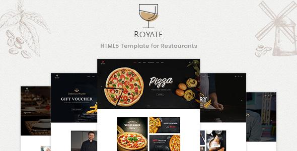 Royate | Restaurant HTML5 Template - Restaurants & Cafes Entertainment