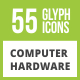 Free Download 85 Computer & hardware Glyph Inverted Icons Nulled