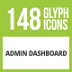 148 Admin Dashboard Glyph Inverted Icons - GraphicRiver Item for Sale