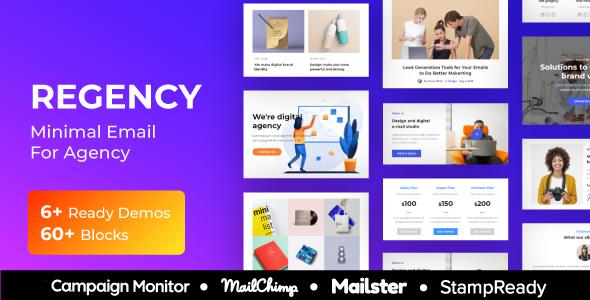 Regency - Agency Multiprupose Responsive Email Template + Stampready Builder + Mailster & Mailchimp