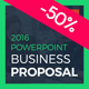 Business Proposal 2016 PowerPoint Presentation Template - GraphicRiver Item for Sale