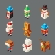 Isometric Lowpoly Christmas Characters - GraphicRiver Item for Sale