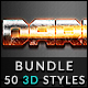 50 3D Text Effects - Bundle Vol. 03