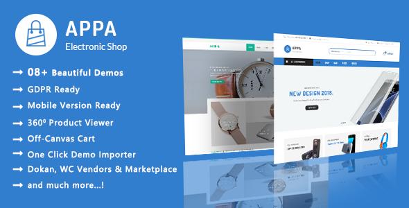 Appa - Modern Electronics and Watches WooCommerce WordPress Theme - WooCommerce eCommerce