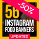 56 Instagram Food Banners - GraphicRiver Item for Sale