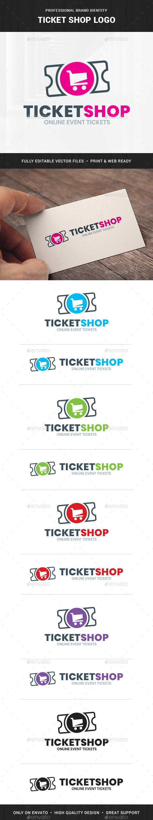 Ticket Shop Logo Template - Symbols Logo Templates