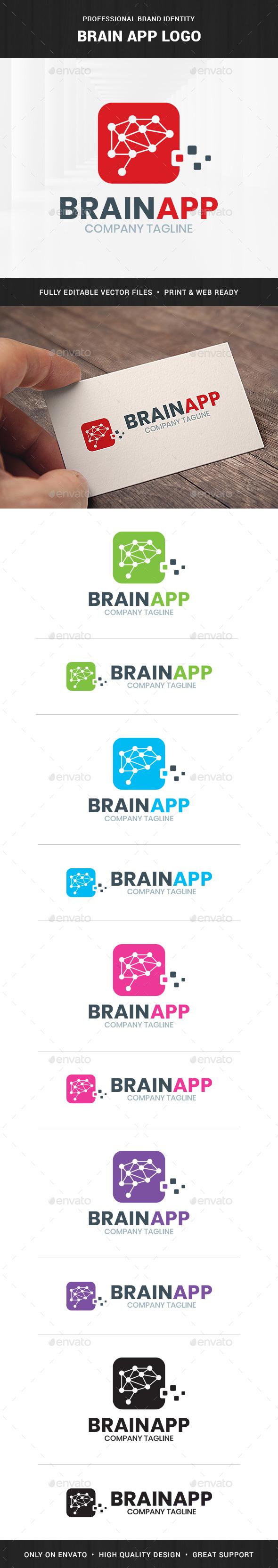 Brain App Logo Template - Symbols Logo Templates