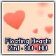 Floating Hearts 3D HD - VideoHive Item for Sale