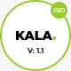 Kala | Minimal Multipurpose PSD Template - ThemeForest Item for Sale