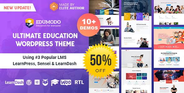 Edumodo - Education WordPress Theme Nulled