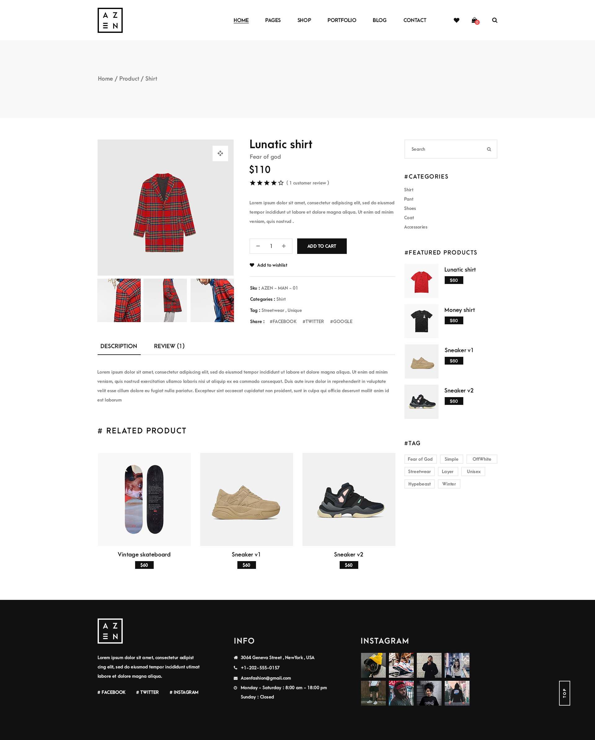 Azen - Clean, Minimal Shop PSD Template