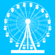 Silhouette atraktsion colorful ferris wheel on blue background illustration - PhotoDune Item for Sale