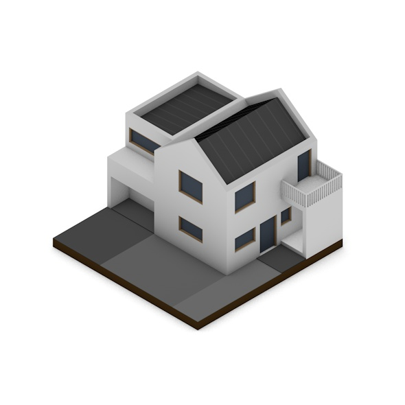 Low Poly Minimalist House - 3DOcean Item for Sale
