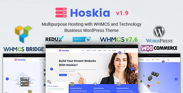 Hoskia | Multipurpose Hosting with WHMCS Theme - Hosting Technology