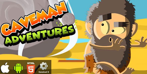 Caveman Adventures - HTML5 Game (CAPX)            Nulled