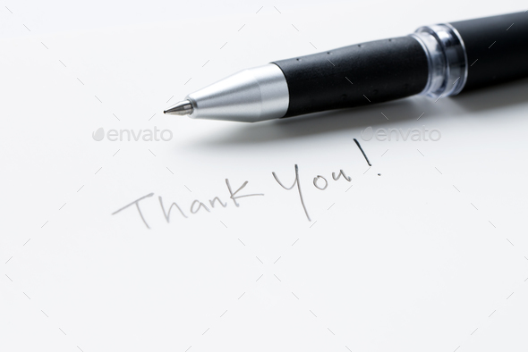 Hand writing thank you note - Stock Photo - Images