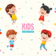 Free Download Kids Characters Vector Collection Nulled