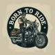 Biker Riding a Motorcycle - GraphicRiver Item for Sale