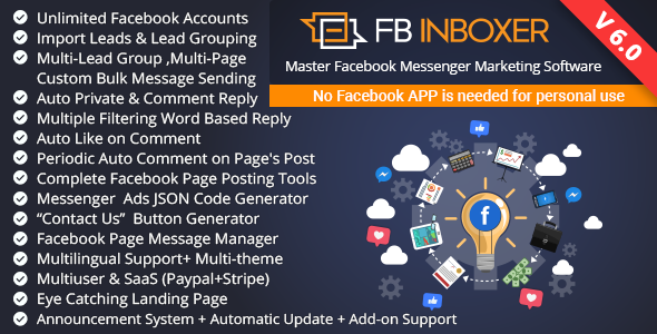 FB Inboxer - Master Facebook Messenger Marketing Software - CodeCanyon Item for Sale