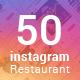 Restaurant Instagram Templates - GraphicRiver Item for Sale
