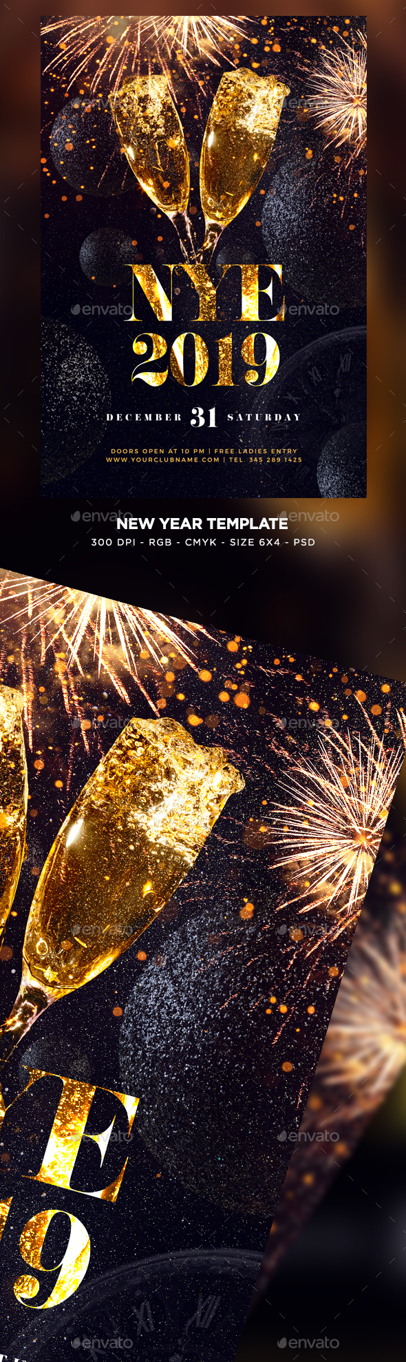 New Year 2019 Flyer - Clubs & Parties Events