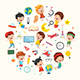 Vector Collection of Kids and Science Illustration - GraphicRiver Item for Sale