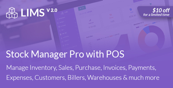 LIMS Stock Manager Pro with POS - CodeCanyon Item for Sale