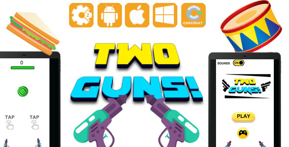 Two Guns - HTML5 Game (CAPX) - CodeCanyon Item for Sale