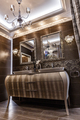 Stylish bathroom in brown colors - PhotoDune Item for Sale