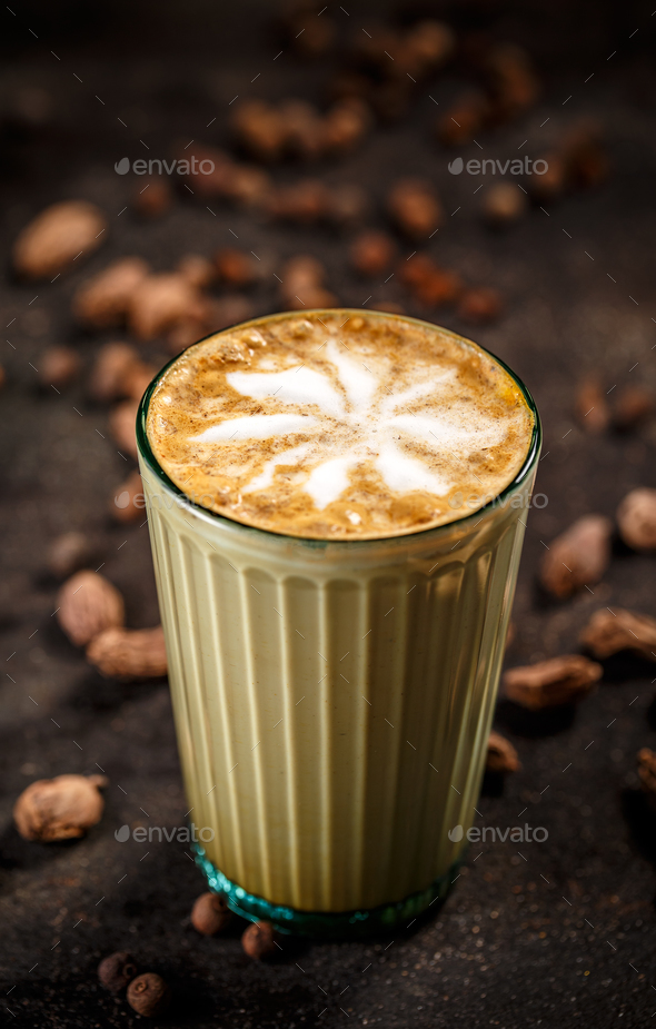 Oriental flavoured coffee latte - Stock Photo - Images