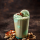 Coffee latte with pistachio ice cream - PhotoDune Item for Sale