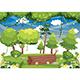 Vector Illustration of Colorful Landscape - GraphicRiver Item for Sale