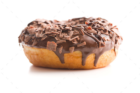 Sweet glazed donut. - Stock Photo - Images