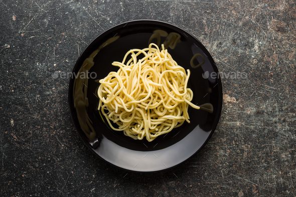 Cooked chinese noodles. - Stock Photo - Images