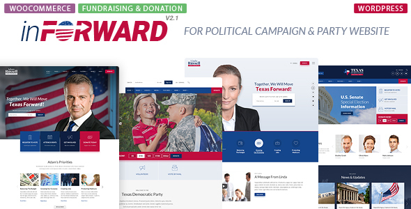 inForward - Political Campaign and Party WordPress Theme - Political Nonprofit
