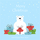 Polar Bear with Christmas Gifts - GraphicRiver Item for Sale